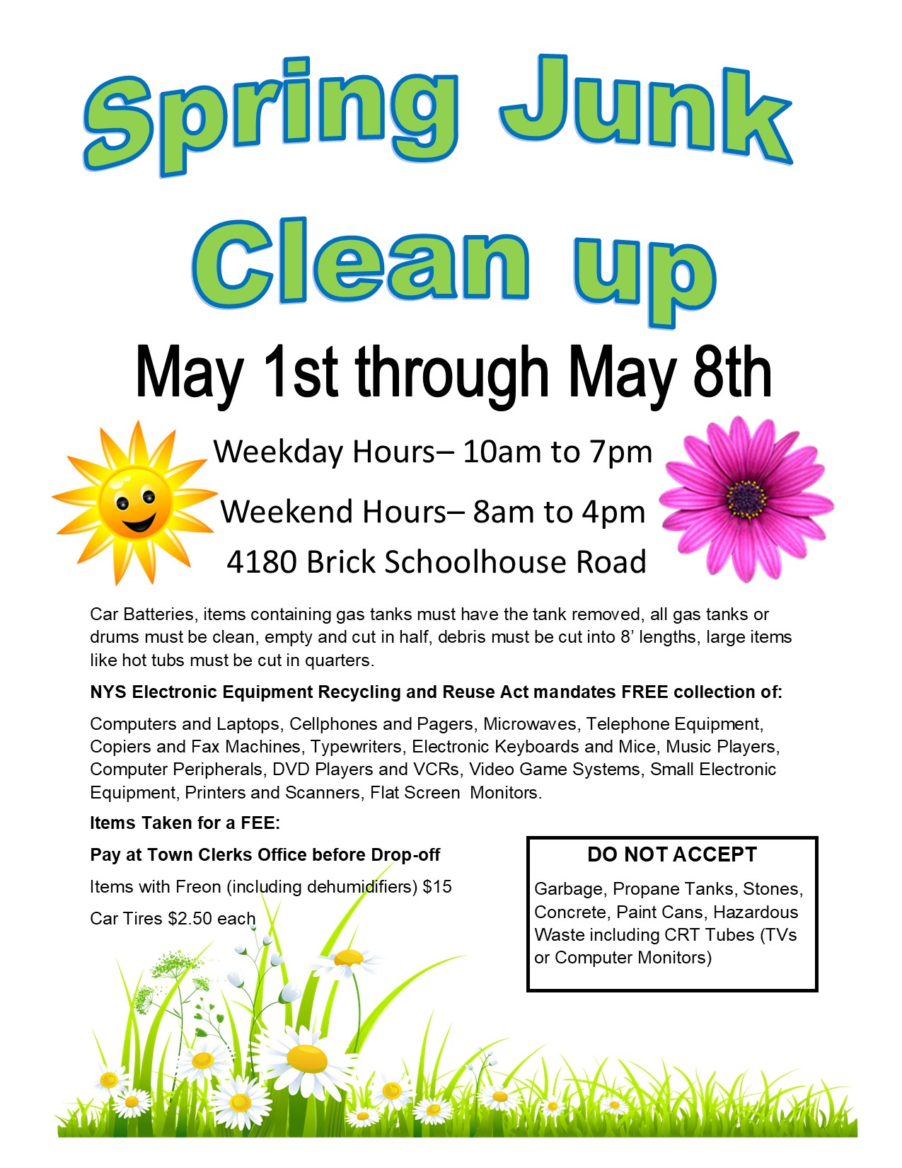 spring junk and brush clean up 2021 1